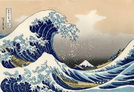 19th-century ukiyo-e woodblock print The Great Wave