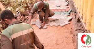 Gjenge Makers paving bricks