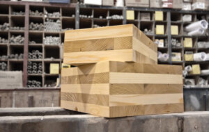 Cross laminated timber blocks by #ODF; licensed with CC BY 2.0